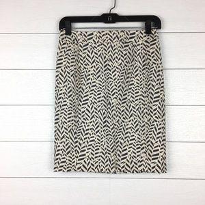 NWT LOFT Printed Pencil Skirt Petites
